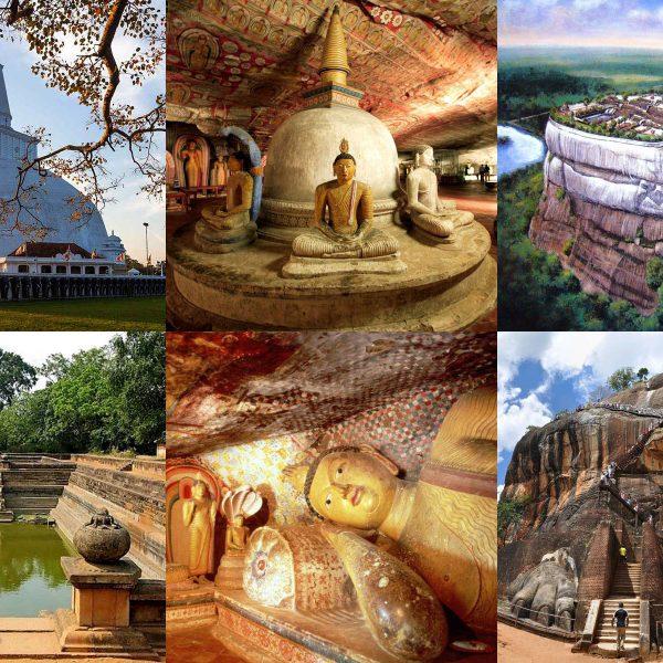 3つの世界遺産 アヌラーダプラ シーギリヤロック ダンブッラの石窟寺院 を巡る2泊の旅